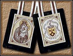 Znalezione obrazy dla zapytania szkaplerz karmelitański